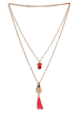Gold N Red Pendant