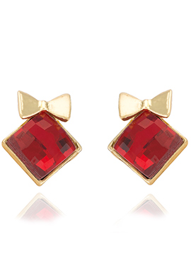 Gold N Red Stud