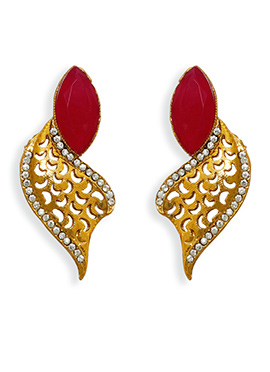 Gold N Red Studs