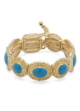 Gold N Sky Blue Bracelet
