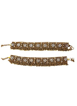 Gold N White Anklet