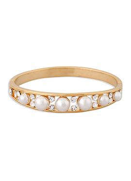 Gold N White Bracelet