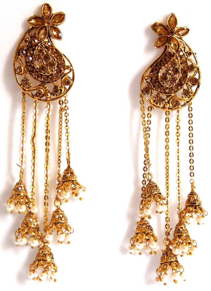 Buy gold n white chandelier earrings chandeliers online shopping erbjkbb12 - Chandeliers online shopping ...