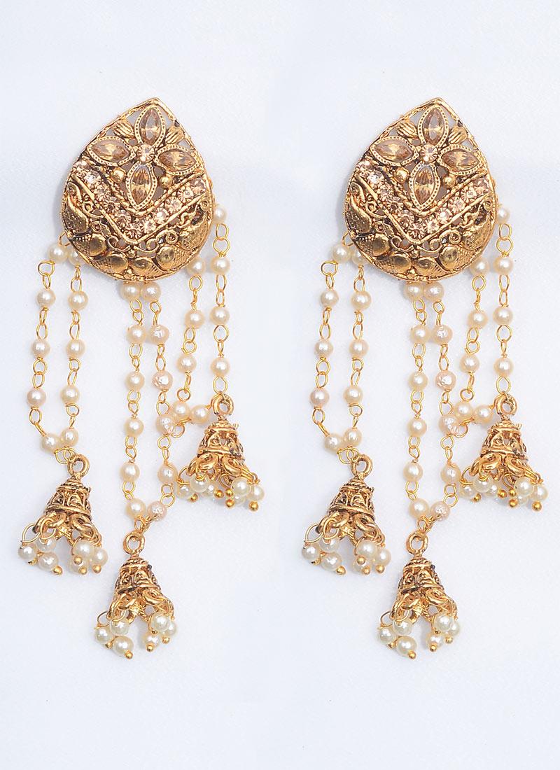 Buy gold n white chandelier earrings chandeliers online shopping erbjkbb24 - Chandeliers online shopping ...