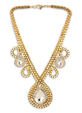 Gold N White Necklace