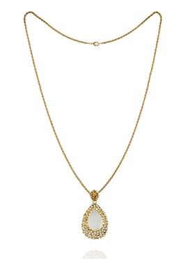 Gold N White Pendant Chain