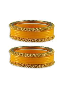 Gold N Yellow Stylish Bangles