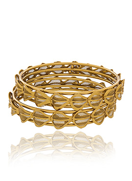 Gold Plated Fancy Design Bangles
