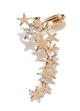 Gold Toniq Stones Single Ear Cuff