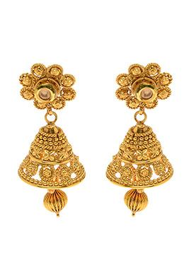 Golden Antique Jhumka