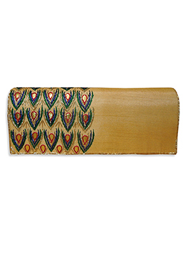 Golden Art Dupion Silk Clutch