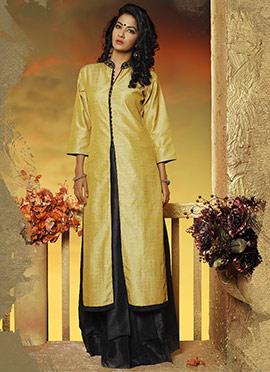 Golden Art Dupion Silk Kurti