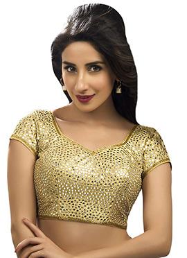Golden Art Silk Blouse
