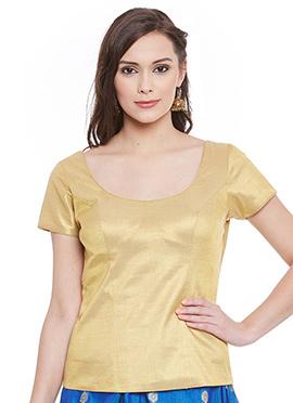 Golden Art Silk Top