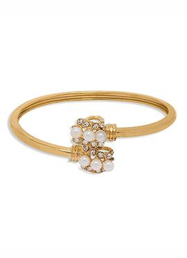 Golden Beads N Stones Bracelet