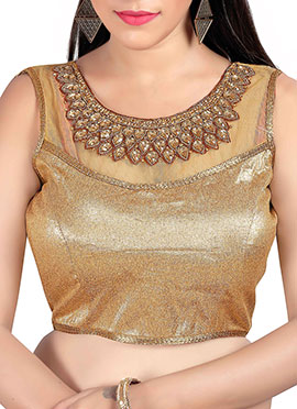 Golden Beige Art Silk N Net Blouse