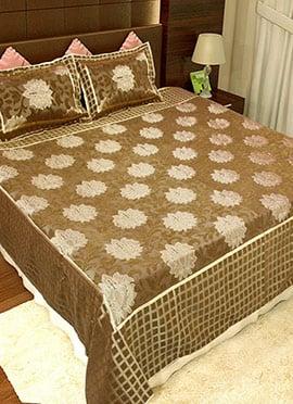 Golden Beige Pure Cotton Bed Sheet