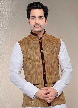 Golden Brown Nehru Jacket