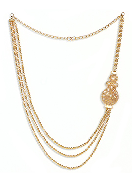 Golden Chain Layered Brass Necklace Set