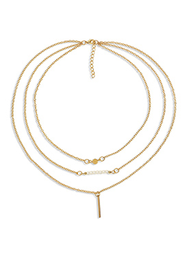 Golden Chain Layered Necklace
