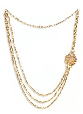 Golden Chain Layered Necklace Set