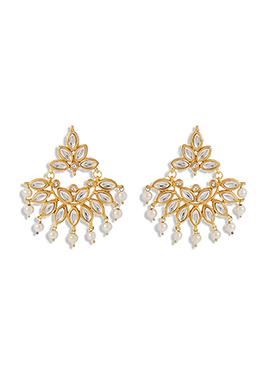 Golden Chandbali Earring