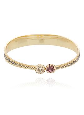 Golden Color American Diamonds Stud Bracelet