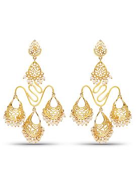 Golden Color Chandeliers Earring