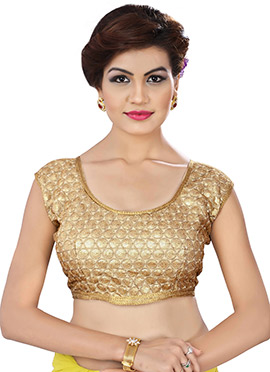 Golden Color Embroidered Blouse