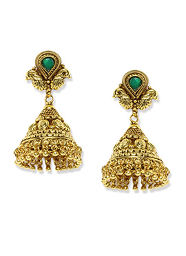 Golden Color Jhumka By Fida