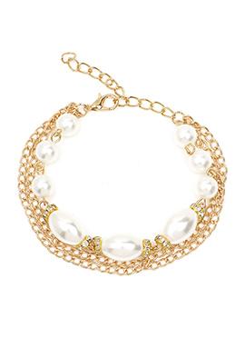 Golden Color Stone Embellished Bracelet