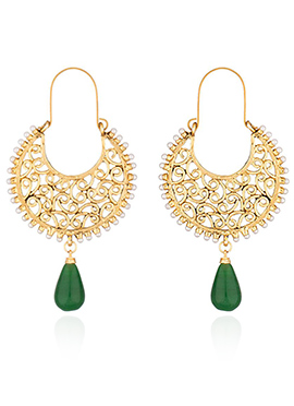 Golden Colored Beads Chaand Bali Earring