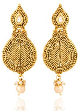 Golden Colored Beads Dangler Earring