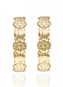 Golden Colored Hoop Earring
