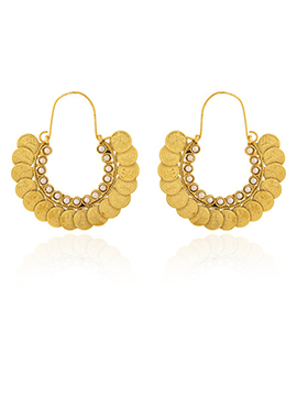 Golden Colored Hoop Style Chaand Bali Earring