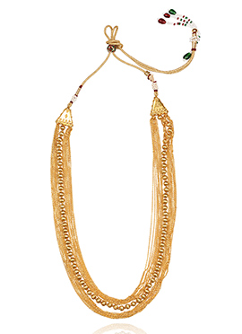 Golden Colored Layered Necklace