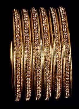 Golden Colored N Brown Stone Kada