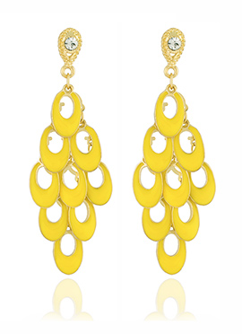 Golden Colored N Yellow Chandelier Earring