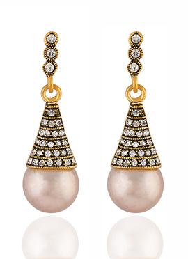 Golden Colored Stone Dangler Earring