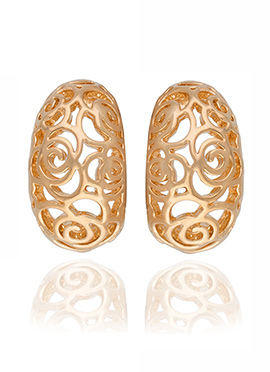 Golden Colored Stud Earring