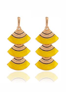 Golden Colored Yellow Dangler Earring