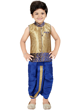 Golden Dhoti Kurta Set