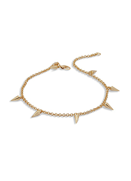 Golden Fancy Motifs Chain Anklet