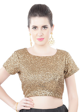 Golden Georgette Blouse