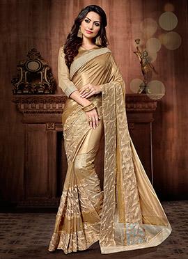 Golden Lycra Saree