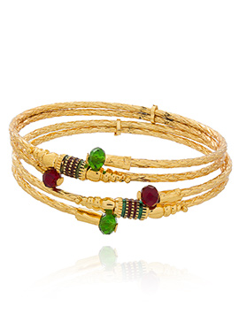 Golden Meenakari Worked Bangles