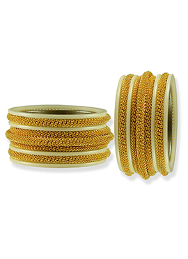 Golden N Cream Colored Bangles
