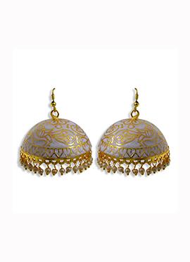 Golden N Grey Hooks Earrings