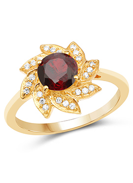 Golden N Maroon Ring
