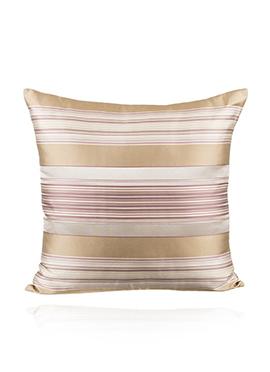 Golden N Cream Art Silk Cushion Cover